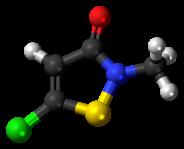 Methylchloroisothiazolinone-3D-balls